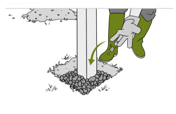 картинка схема установки столбов